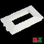 Rama alba tripla pentru aparataj 45x45 mm (6 module) - DLX DLX-102-13